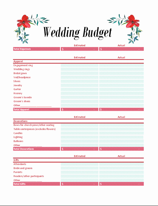 Excel Wedding Budget Template Inspirational Bud S Fice