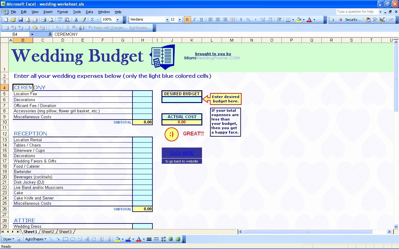 Excel Wedding Budget Template Lovely Templates for Recipe Cards