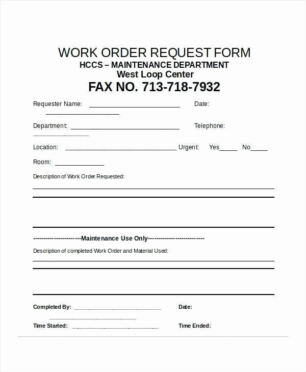 Excel Work order Template Beautiful Excel Request form Cheque Requisition Template Check Work