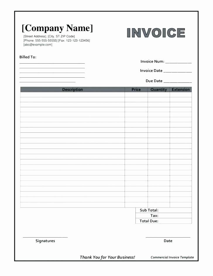 Excel Work order Template Fresh 96 Work order Invoice Template Free Work order Sample