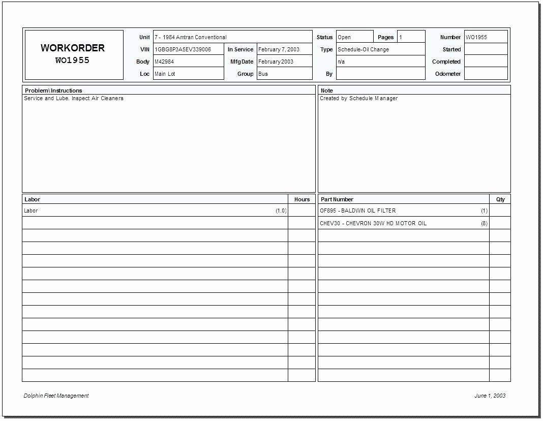 Excel Work order Template Luxury Template Work order Template Excel