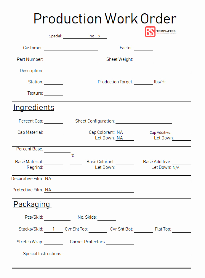 Excel Work order Template Luxury Work order