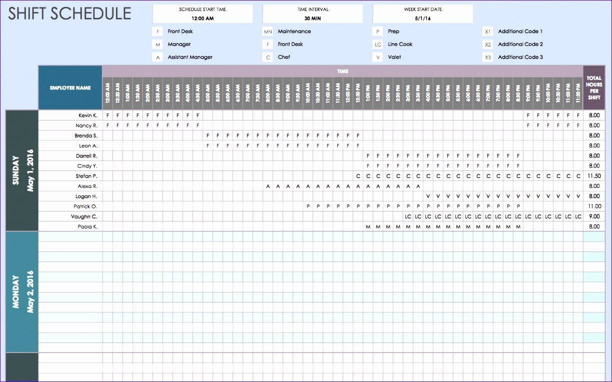 Excel Work Schedule Template Unique 7 Daily Work Schedule Template Excel Exceltemplates