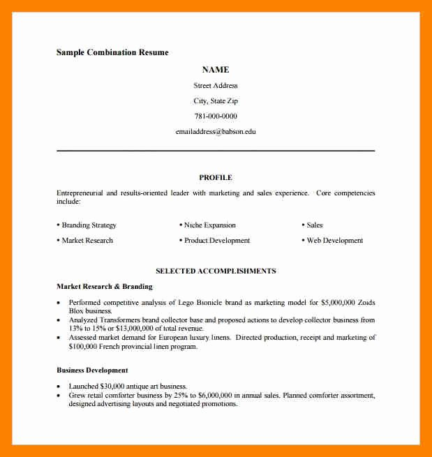 Executive Hybrid Resume Template Awesome 9 Hybrid Resume Example