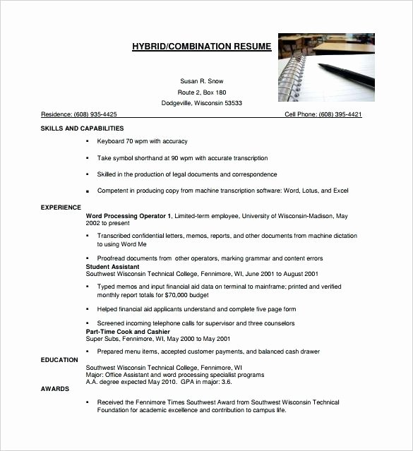 Executive Hybrid Resume Template Awesome Hybrid Resume Template Executive Word Simple Free