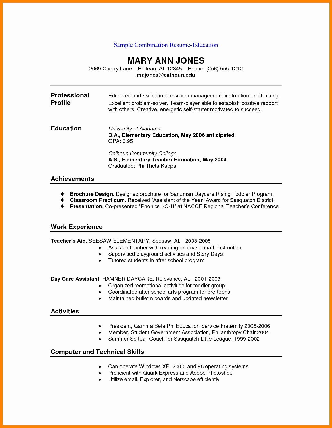 Executive Hybrid Resume Template Lovely Examples Bination Resumesmple Bination Resume