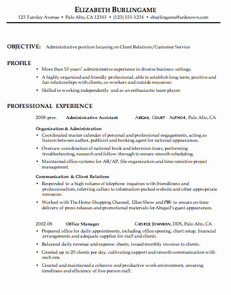 Executive Hybrid Resume Template Luxury Bination Resume Sample Administrative Client