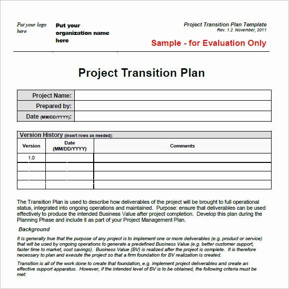 Executive Transition Plan Template Beautiful Transition Plan Template