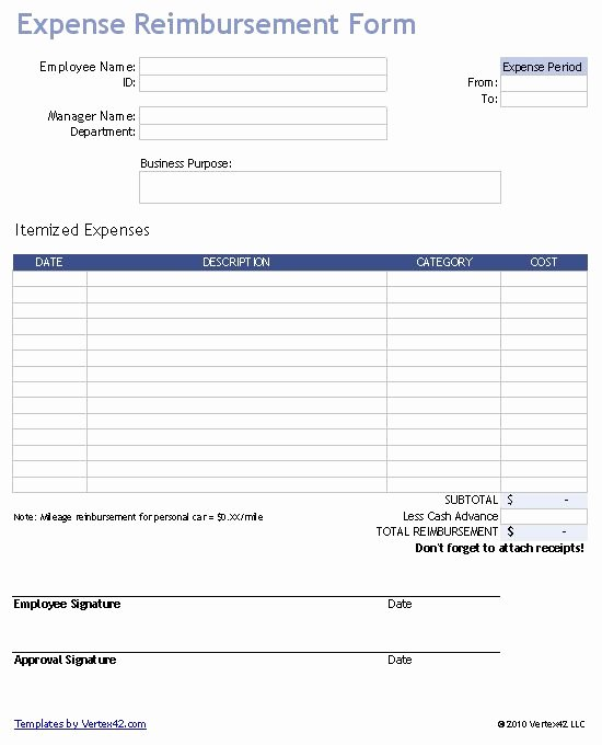 Expense Reimbursement form Template Elegant Download A Free Business Expense Reimbursement form for