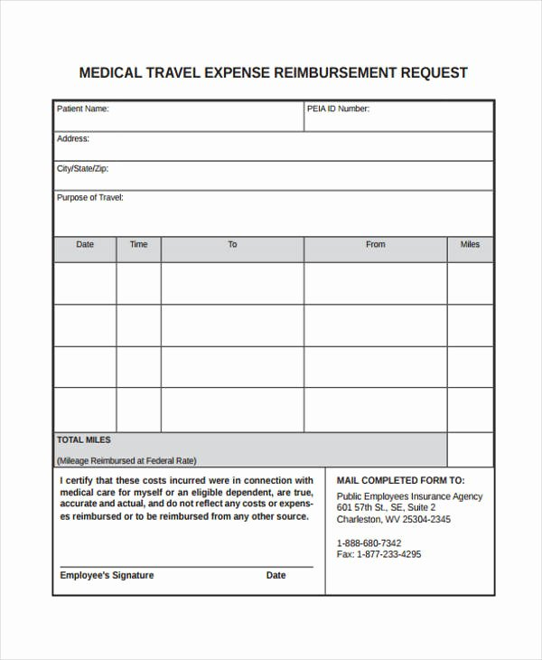 Expense Reimbursement form Template Elegant Travel Request form Template