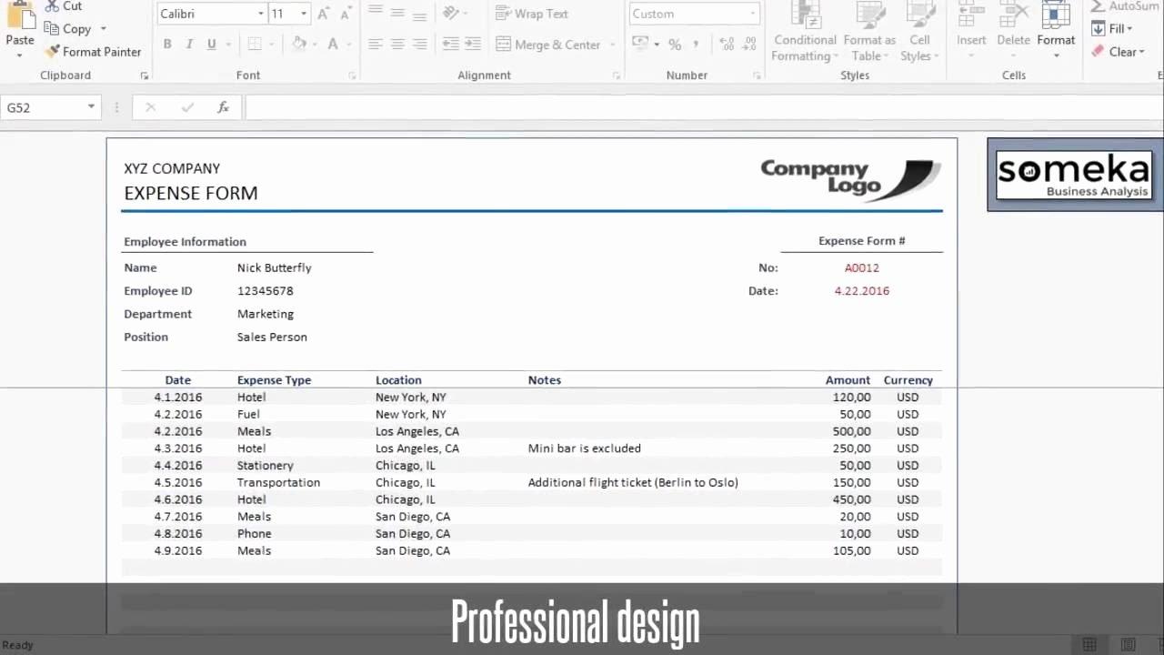 Expense Reimbursement form Template Luxury Reimbursement form Free Expense Template for Employees