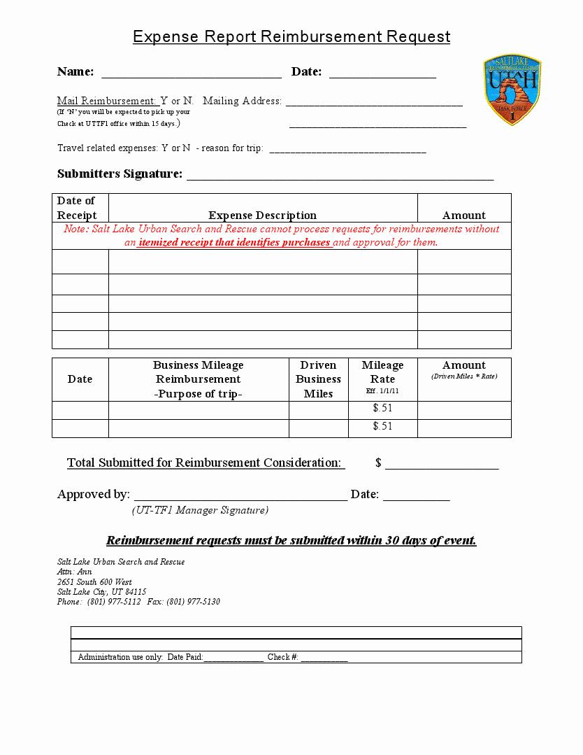 Expense Reimbursement form Template New Easy to Use Travel Expense Report and Reimbursement