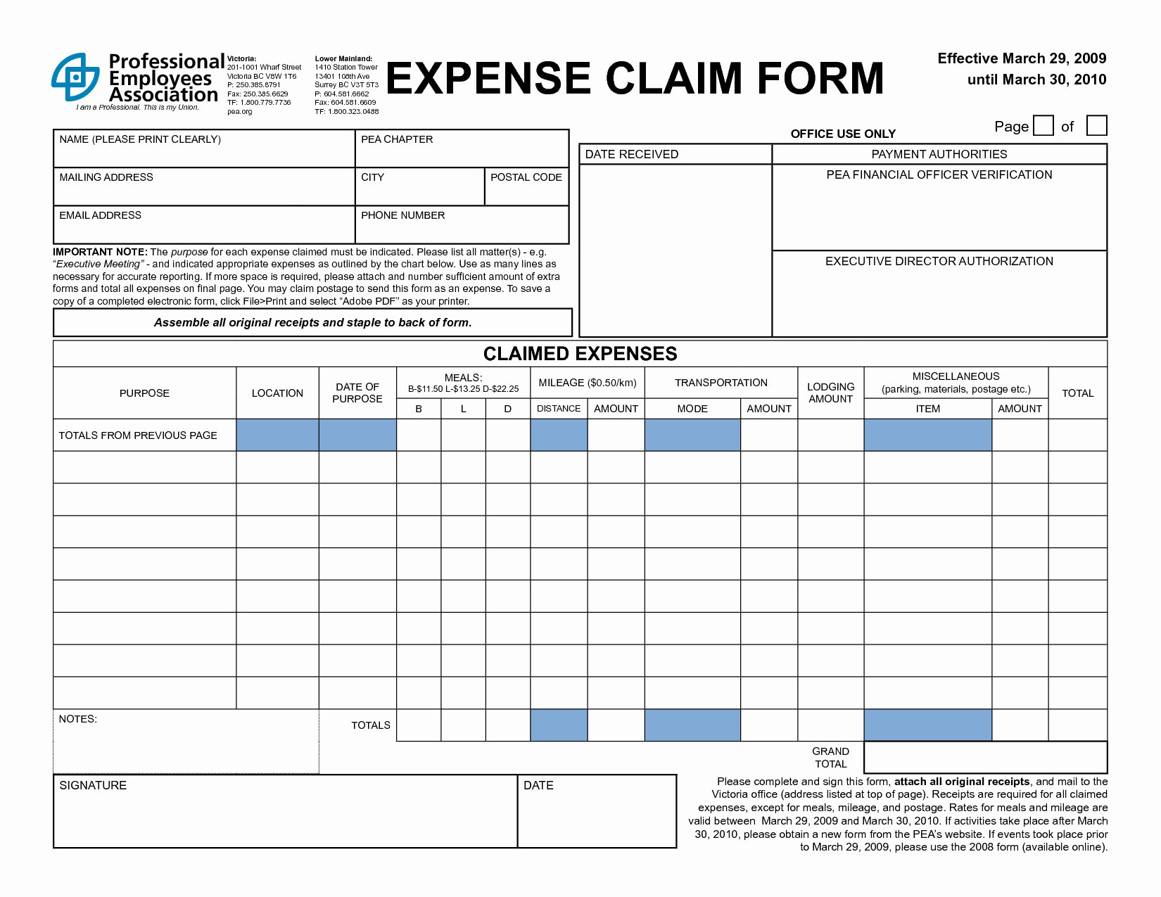 Expense Reimbursement form Template Unique 4 Expense Claim form Templates Excel Xlts
