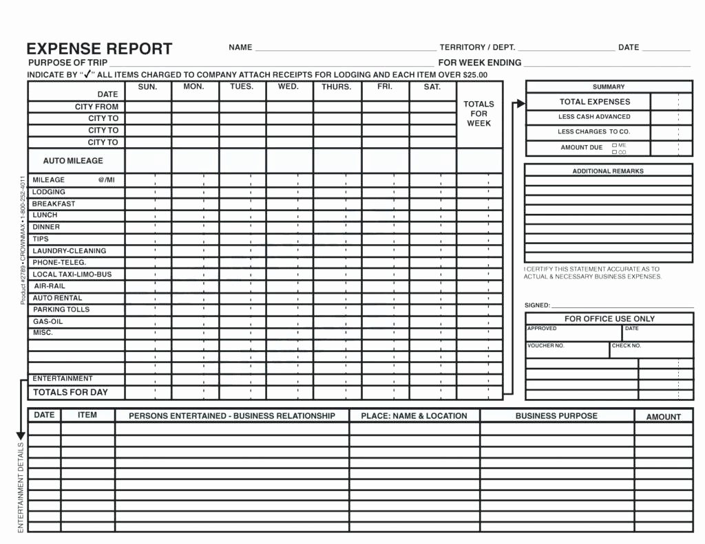 Expense Report Excel Template Best Of Template Detailed Expense Report Template