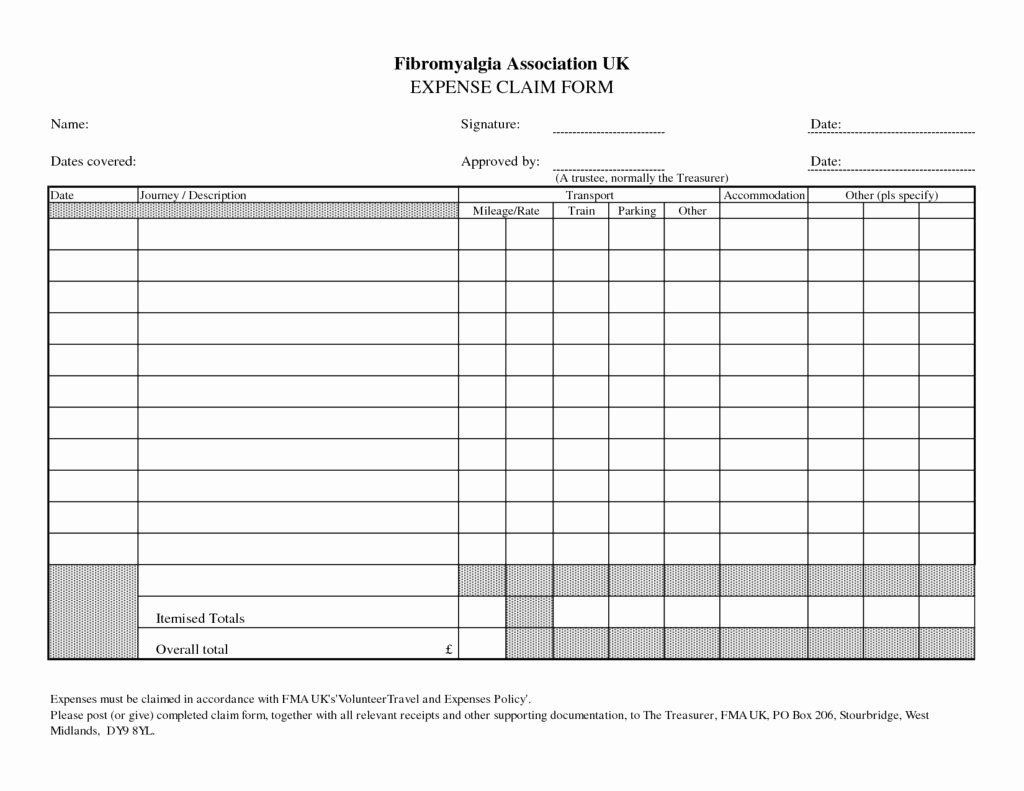 Expense Report Template Excel Fresh Blank Expense Report Mughals