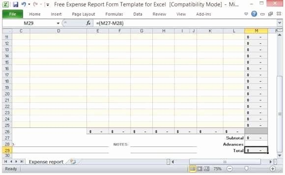 Expense Report Template Word Lovely 10 Expense Report Templates Word Excel Pdf formats