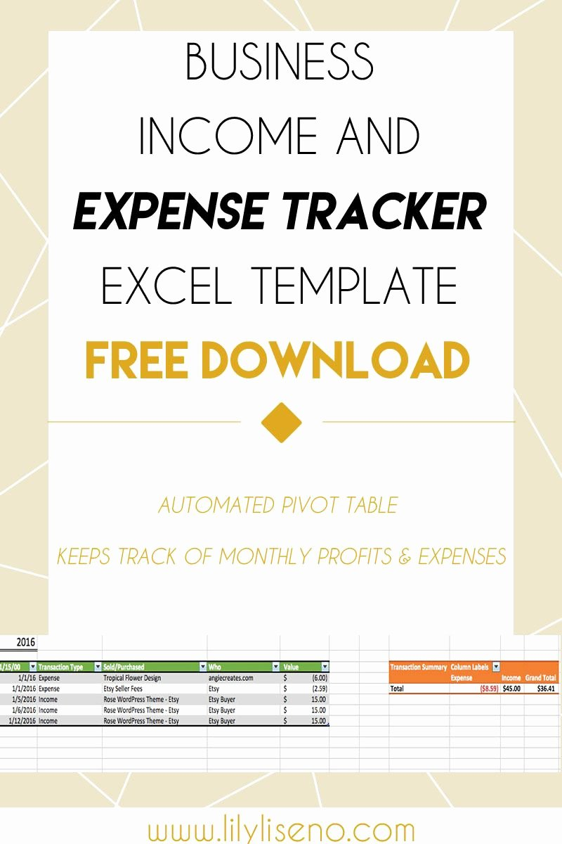 Expense Tracker Excel Template Luxury In E and Expense Tracker Excel Template Free Download