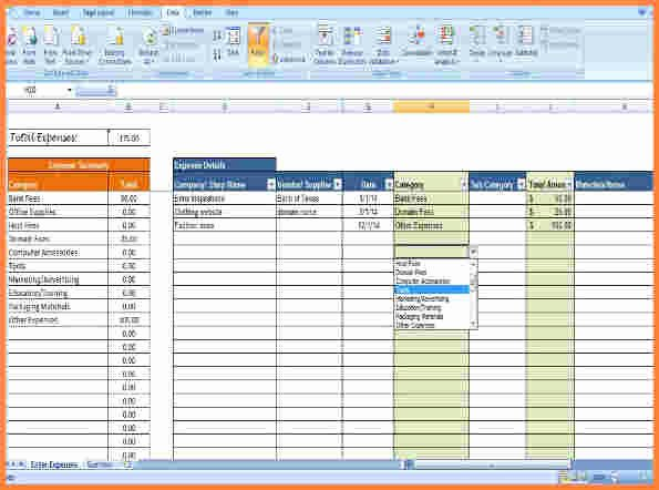 Expense Tracker Excel Template New 5 Business Expense Tracking Spreadsheet Excel Spreadsheets