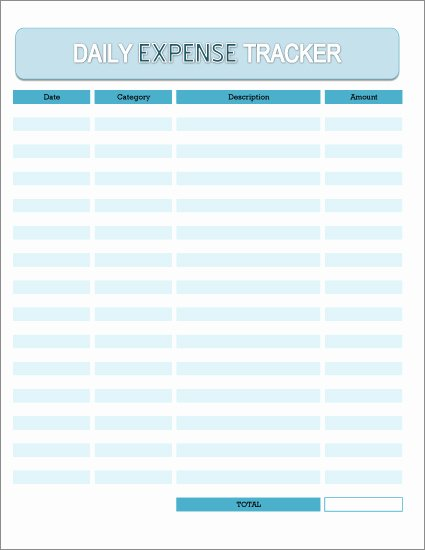 Expense Tracking Sheet Template Beautiful Free Daily Expense Tracker Excel Spreadsheet and Printable