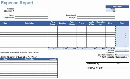 Expenses Report Template Excel Awesome Download Travel Expense Report Template Excel