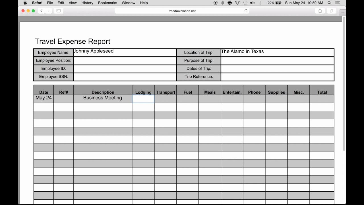 Expenses Report Template Excel Best Of How to Fill In A Free Travel Expense Report Pdf