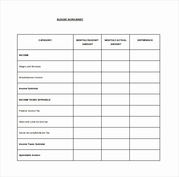 Expenses Sheet Template Free Awesome Bud Spreadsheet Template 3 Free Excel Documents