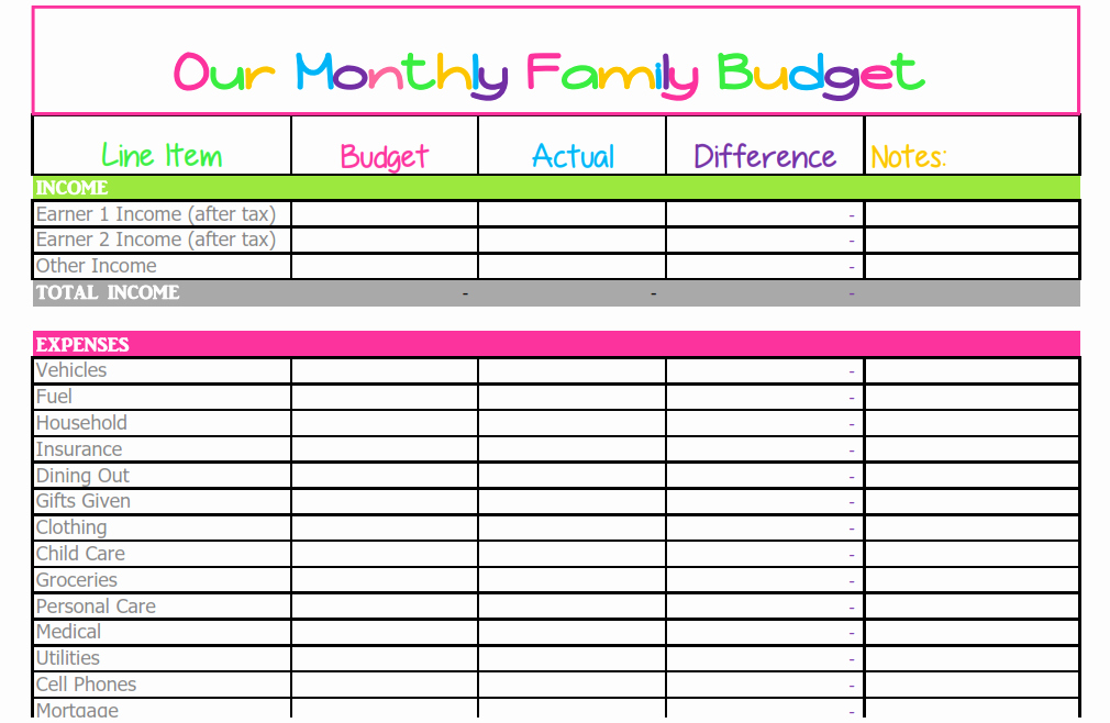 Expenses Sheet Template Free Awesome Free Monthly Bud Template Cute Design In Excel