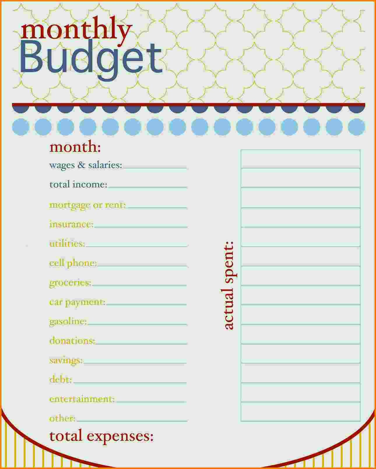 Expenses Sheet Template Free Elegant 5 Bud Template Free