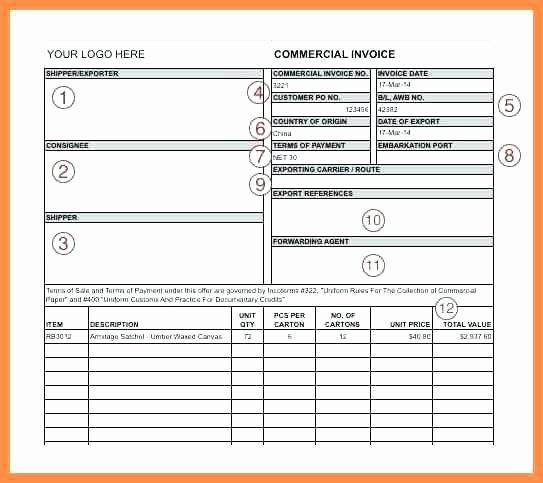 Export Commercial Invoice Template Elegant Uk Export Mercial Invoice Template Blank Mercial