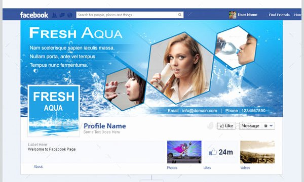Facebook Business Page Template Awesome 21 Business Page Templates