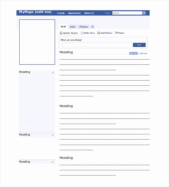 Facebook Business Page Template Beautiful Post Template