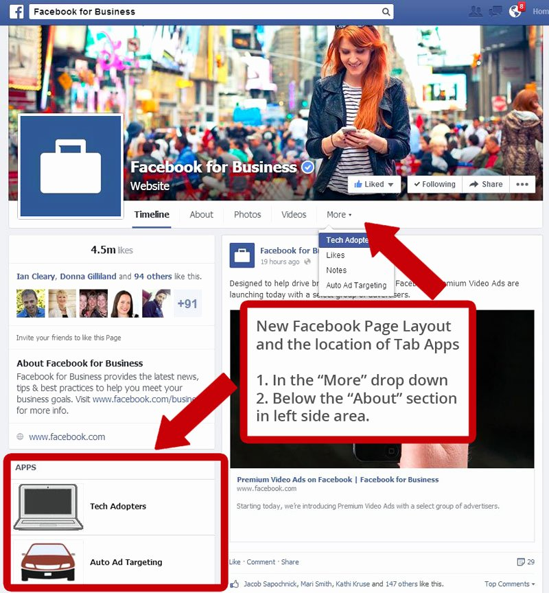 Facebook Business Page Template Beautiful the Location Of Tabs In New Page Layout