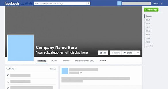 Facebook Business Page Template Elegant Psd Template – 8 Free Samples Examples format