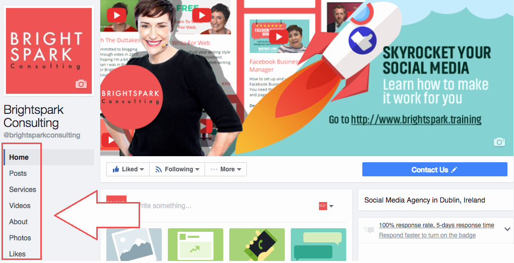 Facebook Business Page Template Inspirational Page Templates for Business Pages Brightspark