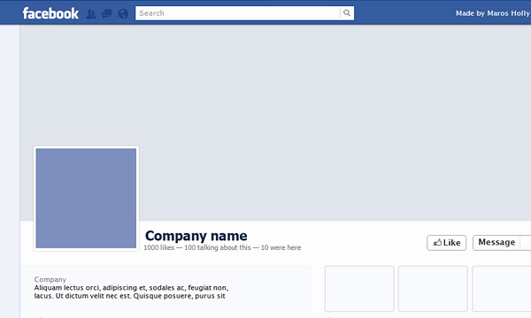 Facebook Page Design Template Awesome 20 Best Free User Interface Kits