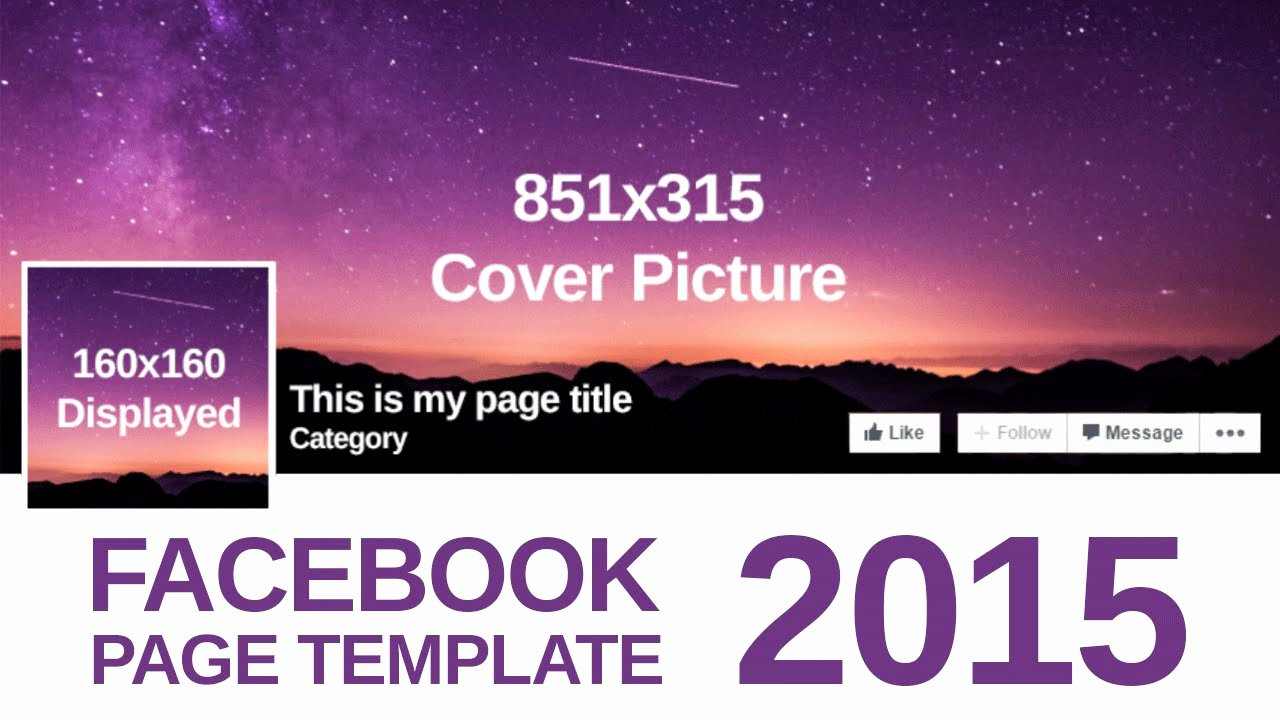 Facebook Page Design Template Beautiful Advanced Page Template 2015