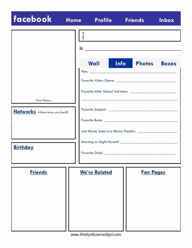 Facebook Page Design Template Fresh Blank Page