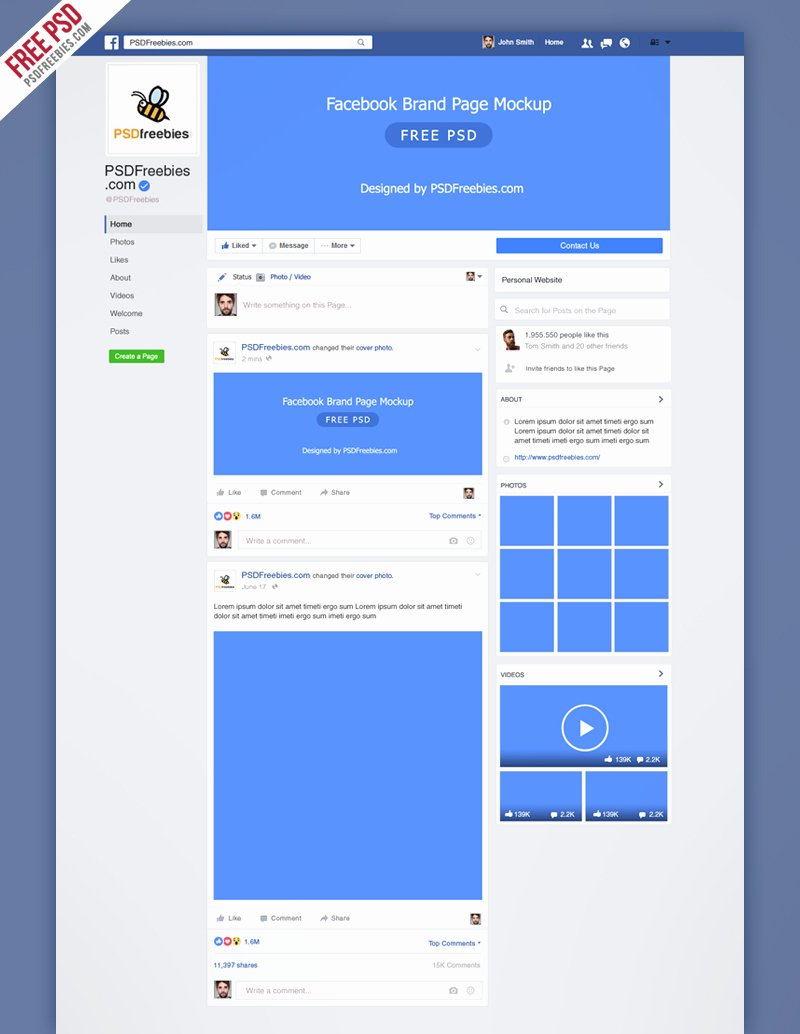 Facebook Page Design Template Fresh Freebie New Brand Page 2016 Mockup Psd On Behance