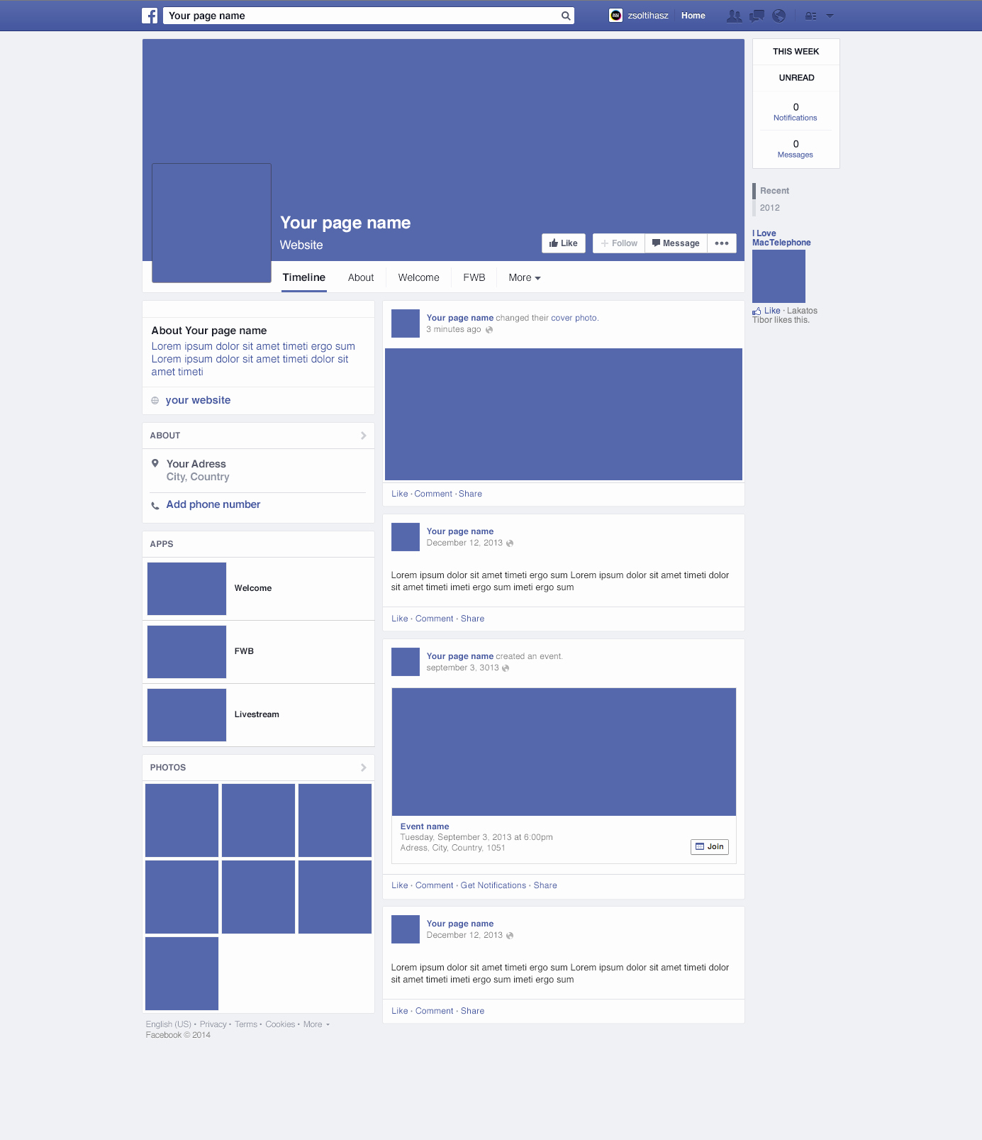 Facebook Page Design Template Inspirational Page Design Mockup