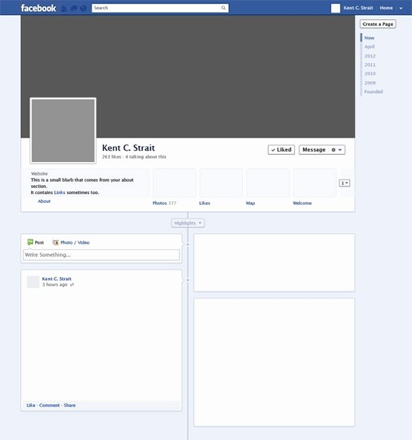 Facebook Page Design Template Lovely Page Template Beepmunk
