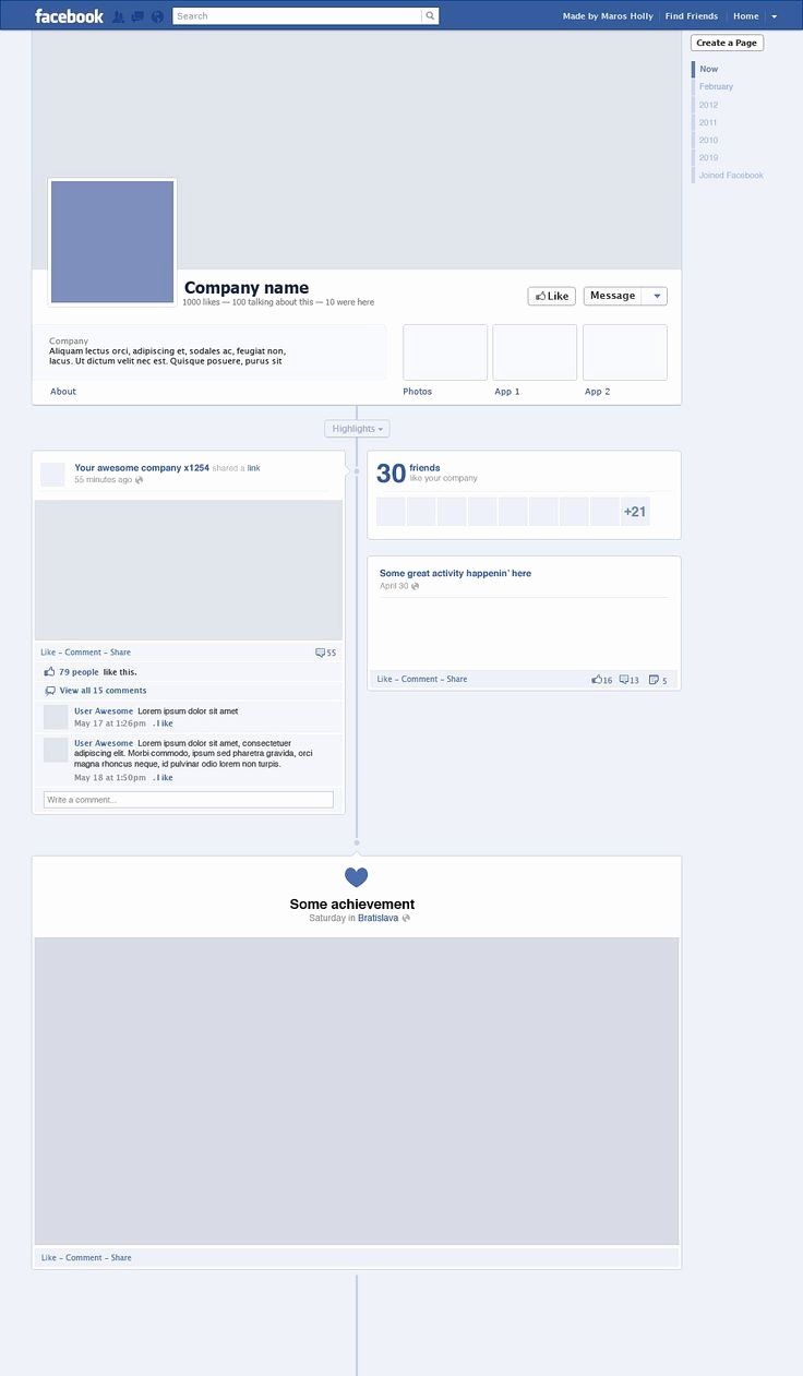 Facebook Page Design Template Lovely Timeline Free Psd Web Goo S