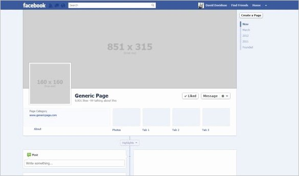 Facebook Page Design Template Unique 14 Banner Size Templates