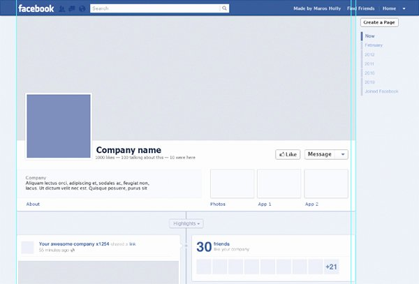 Facebook Post Design Template Awesome Free Timeline Psd Template