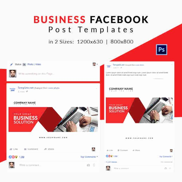 Facebook Post Design Template Best Of 10 Free Post Templates Business Travel