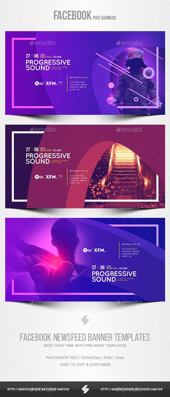 Facebook Post Design Template Fresh Electronic Music Party Vol 37 Post Banner