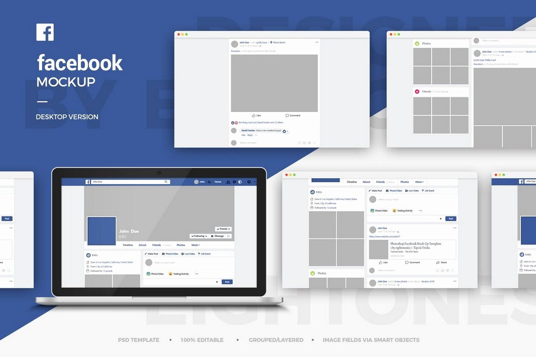 Facebook Post Design Template Luxury 20 Best Cover & Post Mockups