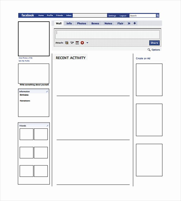 Facebook Post Design Template Luxury Blank Template – 11 Free Word Ppt & Psd