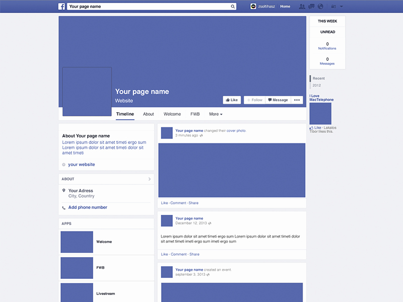 Facebook Post Design Template Luxury Page Mockup by Zsolt Ihász Dribbble