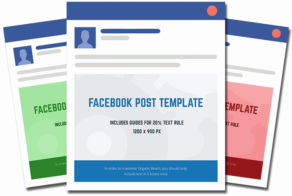 Facebook Post Design Template New Post Template 2018