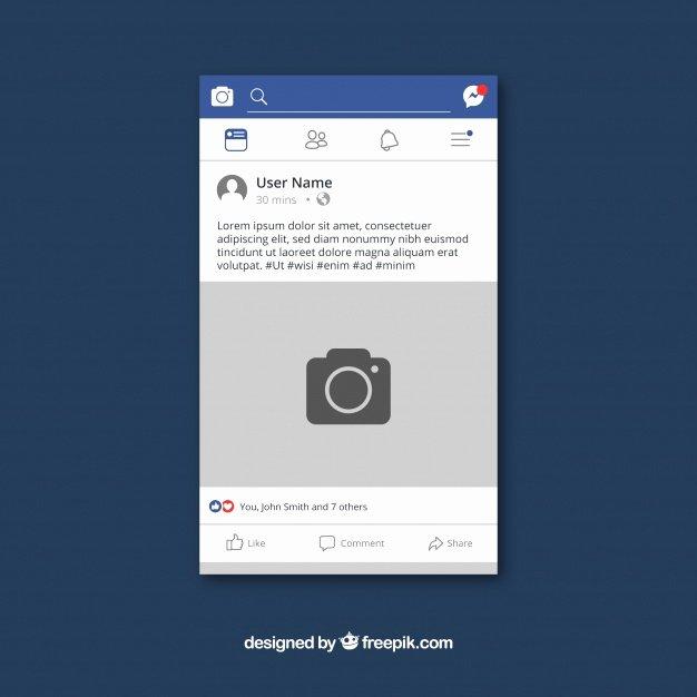 Facebook Post Design Template Unique Mobile Post Design Plano